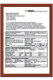MSDS物質安全資料書